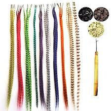 hair feather feather hair extension kit with 35 synthetic feathers