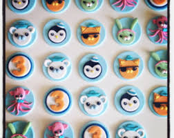 octonauts cake toppers 24 x fondant octonauts cupcake toppers