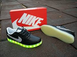 Nike Light Nike Air Force 1 Low Usb Charging Led Light Up Shoes Leather Black