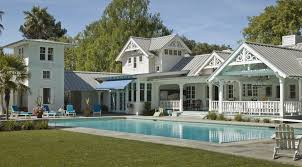modern white interior pool house ideas that can be decor with