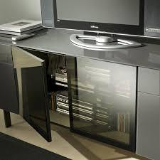 media storage cabinet with sliding glass door saudireiki