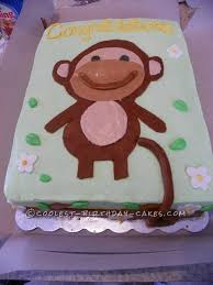 monkey baby shower cake cutest monkey baby shower cake