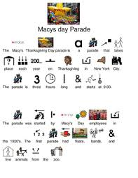 macy s thanksgiving day parade picture supported text lesson