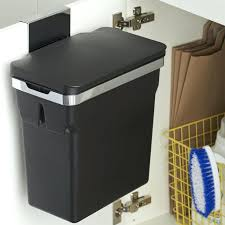 trash can attached to cabinet door under kitchen sink trash can our compost bucket is attached to the