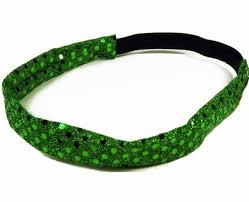 glitter headbands green metallic glitter sequin sport headbands headbands