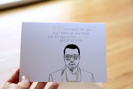 kanye birthday card serene just because greeting card design and white rectangular