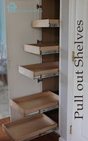 kitchen organization pull out shelves in pantry pantry diy