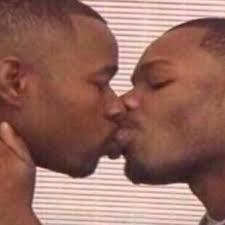 Gay Black Guy Meme - two niggas kissing kissingniggas twitter