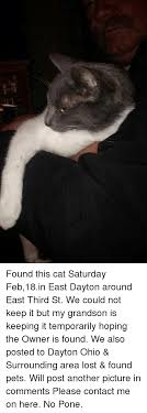 Saturday Memes 18 - found this cat saturday feb18in east dayton around east third st we