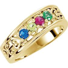 4 mothers ring gold 4 to 5 stones s ring