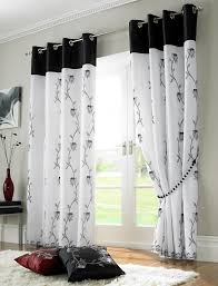 Black And White Window Curtains Curtains Black And White Gopelling Net