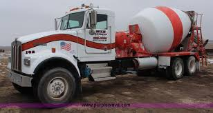 kenworth concrete truck 1990 kenworth w900 concrete truck item k7164 sold april