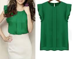 green chiffon blouse blouse sleeve chiffon shirt ruffle casual top