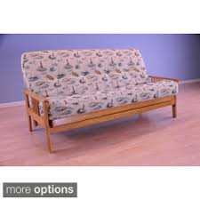 all wood futon set with table arm and camel mattress free