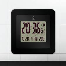 digital wall clock with temperature display