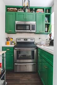 green cabinets kitchen
