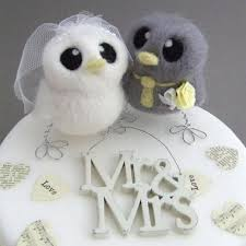 love birds wedding cake topper grey and yellow wedding bride and