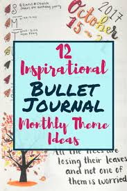 theme ideas 12 inspirational bullet journal monthly theme ideas planning