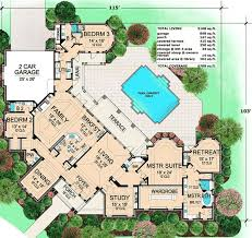 luxury house plans with pools best 25 house plans with pool ideas on house plans