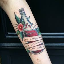 top 14 tattoos on the theme of wine les itineraires de charlotte