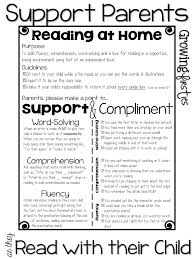 parent support for at home reading u0026 back to parent input
