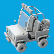 jeep cartoon offroad wip 3d 4x4 cartoon jeep modeling in modo