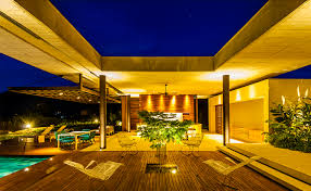 Modern White Concrete House Design With Open Plan Concept Idea