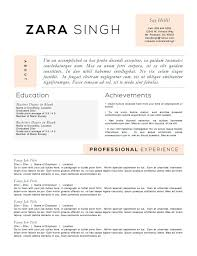 Samples Of Achievements On Resumes by Resume Templates To Highlight Your Accomplishments