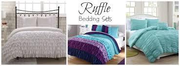 Ruffle Bedding Set Teal Ruffle Bedding White Bed