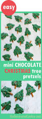 these cute mini chocolate christmas trees are a fun holiday treat
