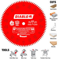 Laminate Flooring Saw Diablo 10 In X 84 Tooth Laminate Non Ferrous Metal Cutting Saw