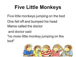 No More Monkeys Jumping On The Bed Song Teaching Efl With Songs And Rhymes 詩 Efl U003d English As A Foreign