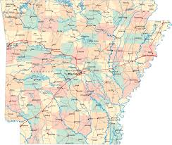 Map Of United States With Cities by Arkansas Big Cities Map
