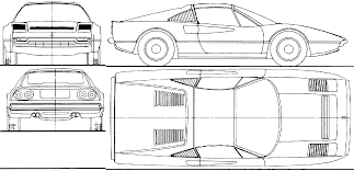ferrari front drawing 1983 ferrari 308 gts targa blueprints free outlines