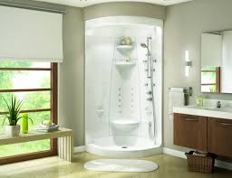 modern minimalist built in one piece shower stalls with seat