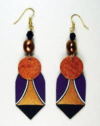 paper mache earrings all things paper evangeline duplessis papier mache jewelry