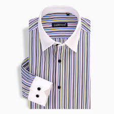cheap sellers 2016 striped shirt men white black patchwork collar