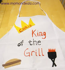 father u0027s day craft idea king of the grill apron
