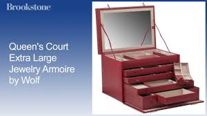 Large Jewelry Armoire Queen U0027s Court Extra Large Jewelry Armoire By Wolf Youtube