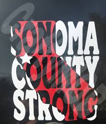 sonoma county strong vinyl sticker support sonoma county