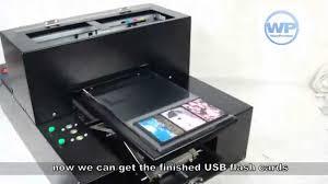 digital inkjet usb credit card flash drive flatbed printer