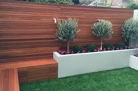 raised bed hardwood screen trellis privacy fence clapham battersea