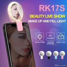 the makeup light pro discount discount rk17s led selfie flash light ring fill light 20 bulbs cold