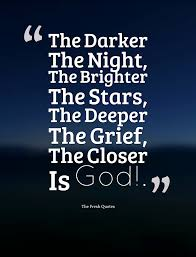 Love Good Night Quotes by The Darker The Night The Brighter The Stars The Deeper The Grief