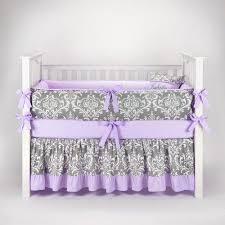 Purple Nursery Bedding Sets Damask Gray Lilac Crib Bedding Set By Sofia Bedding Teal