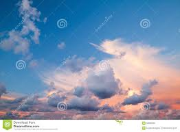 dramatic colorful cloudscape bright evening sky stock photo