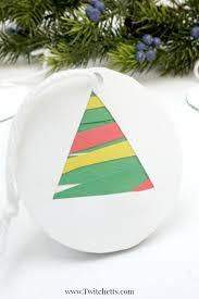 easy paper christmas tree ornament christmas craft for kids