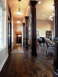 interior columns for homes columns keep the hallway from dinginess and give the living room