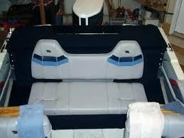 bench boat seats folding rear seat aluminum cushions pad