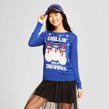 women u0027s chillin with my snowmies long sleeve ugly christmas